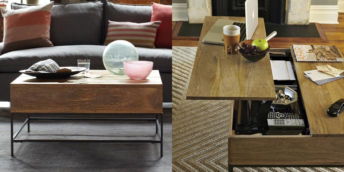 RUSTIC COFFEE TABLE WEST ELM Jebiga Design Lifestyle - West elm cafe table