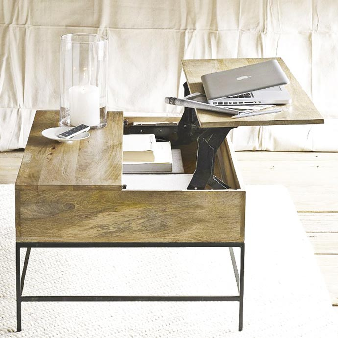 Rustic Storage Coffee Table by West Elm 8