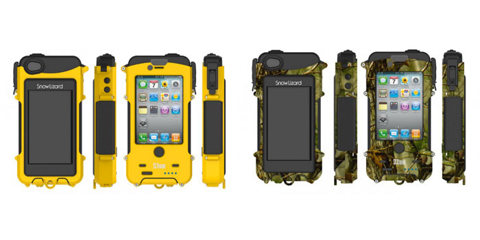 SNOW LIZARD SLXTREME WATERPROOF SOLAR CHARGING IPHONE CASE 4