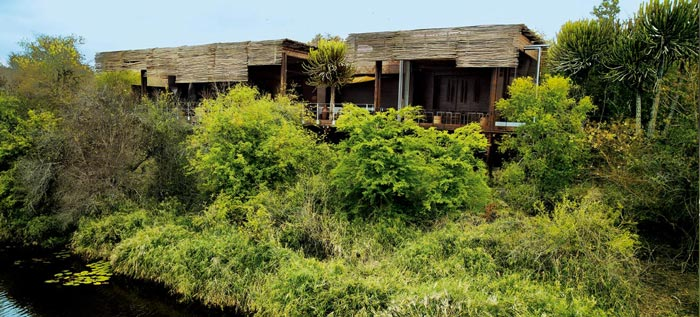 Exterior view of Singita Sweni Lodge in South Africa