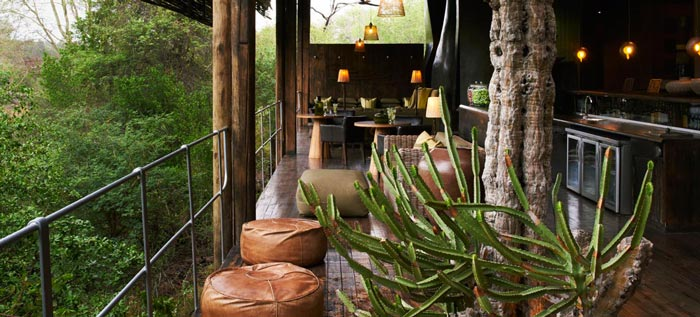 Interior design at Singita Sweni Lodge in South Africa