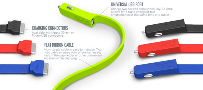 Technical Specs of the TYLT Micro USB Band Car Charger 7
