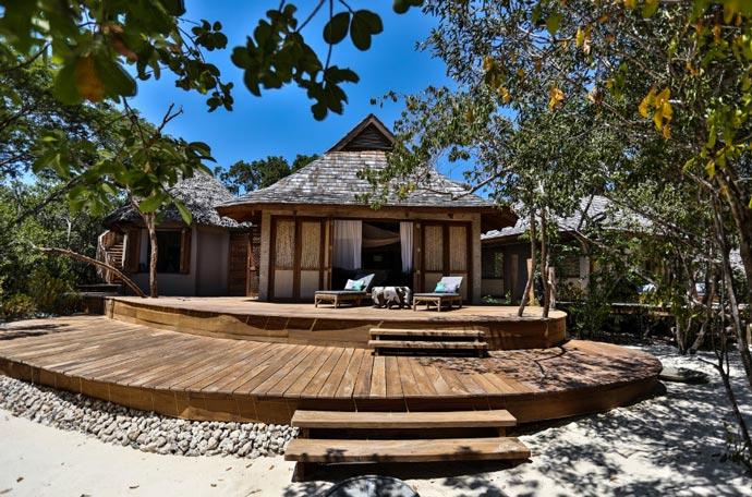 Wooden lodge at Vamizi Island Resort