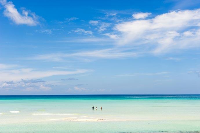 Sandy beaches at Vamizi Island