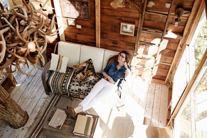 Interior design of a treehouse at Wandawega Lake Resort