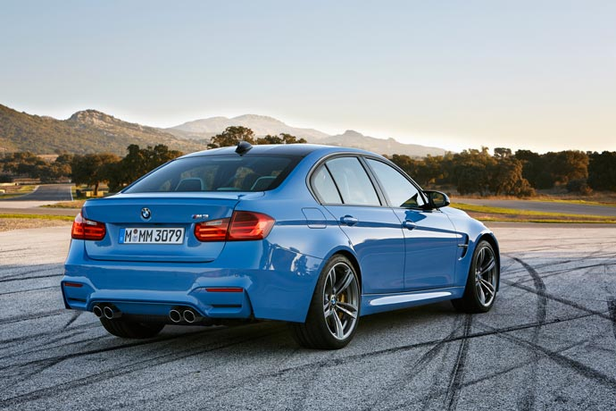 Rear view of the 2015 BMW M3