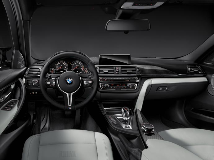 Interior of the 2015 BMW M3