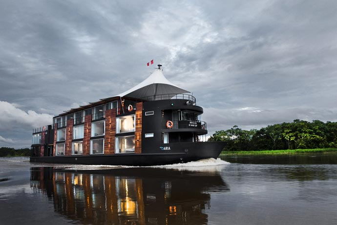 Luxury ship hotel on the Amazon