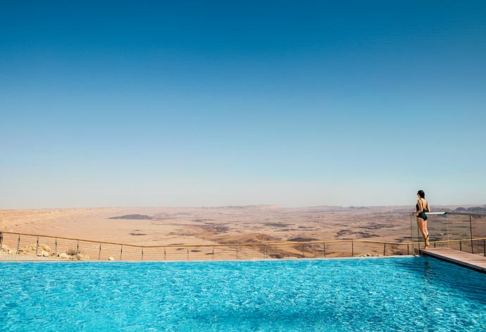Infinity pool at Beresheet Hotel