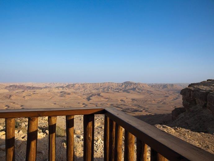 View of the desert from Beresheet Hotel