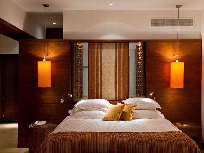 Bedroom design at Beresheet Hotel in Israel