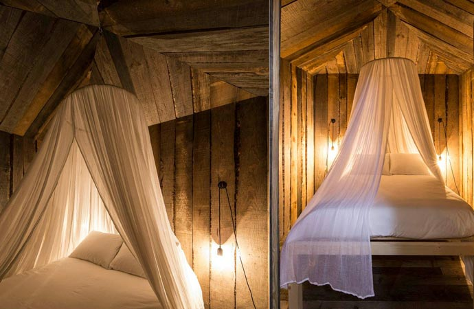 Bed and mosquito net