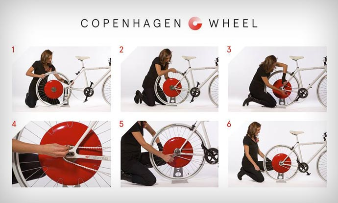 Instructions to install the Copenhagen Wheel