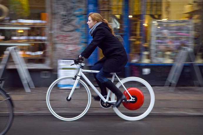 Copenhagen Wheel in use