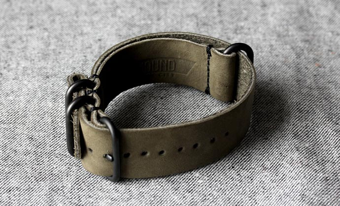 Horween Leather NYC NATO Watch Strap 3