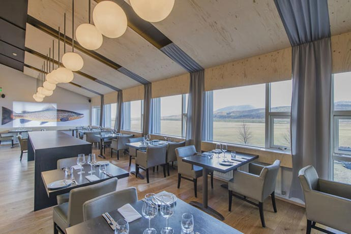 Restaurant at Ion Hotel in Iceland