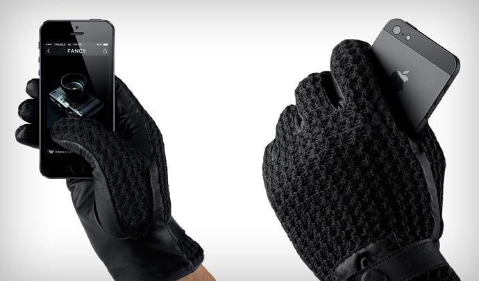 Leather Touchscreen Gloves by Mujjo 1