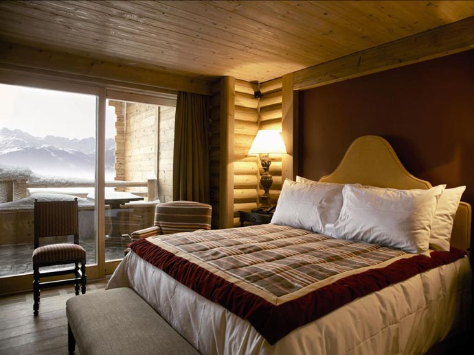 Room at LeCrans Hotel & Spa in Switzerland