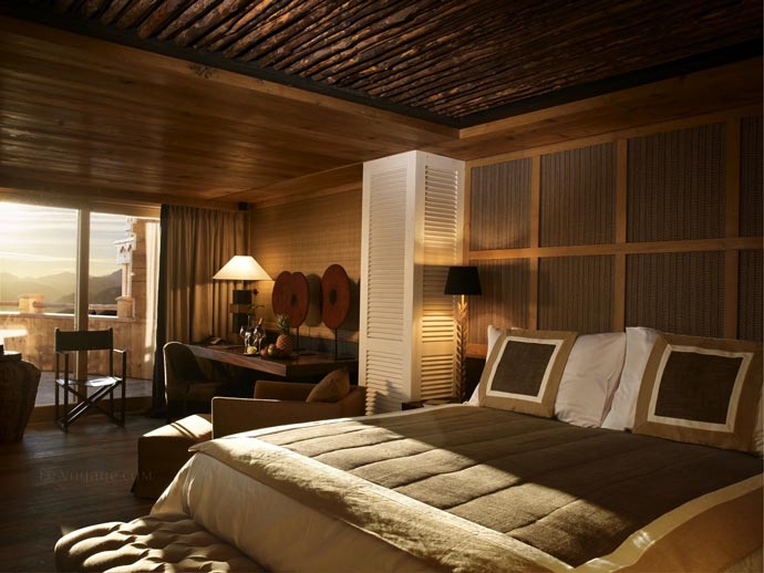 Bedroom design at LeCrans Hotel & Spa