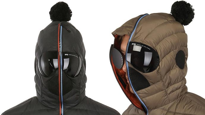 Matt Nylon Hooded Jacket with built-in Goggles 3