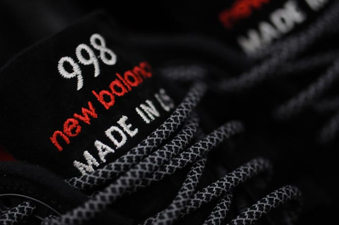 New Balance 998 Black/Red Re-Issue 1