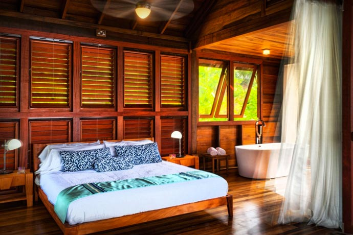 Room at the Secret Bay Resort in the Island of Dominica