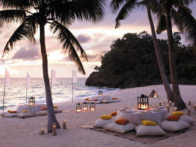 Beach set up at Shangri-La's Boracay Resort and Spa