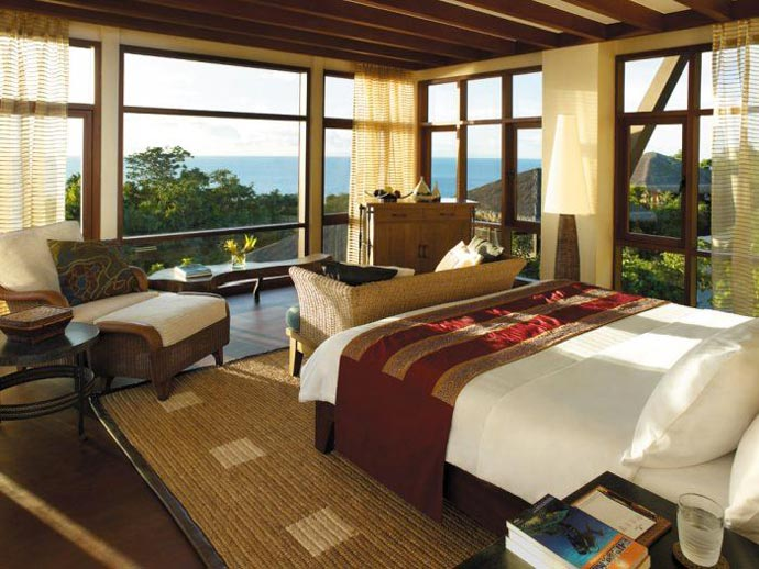 Bedroom design with a view of the sea at Shangri-La's Boracay Resort and Spa