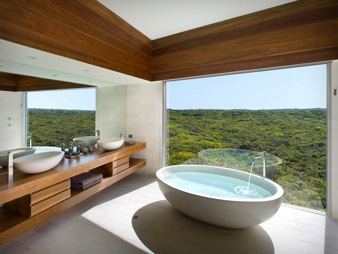Bathroom at Southern Ocean Lodge