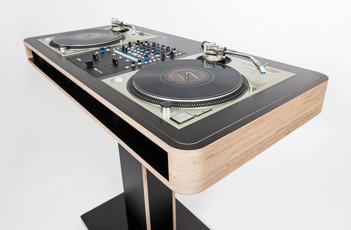 Dj Stand Designs : Stereo t dj table by hoerboard jebiga design lifestyle