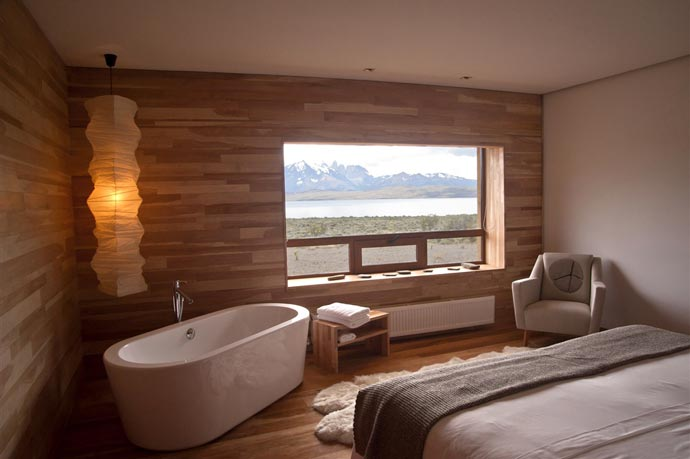 Bedroom design at Tierra Atacama in Patagonia