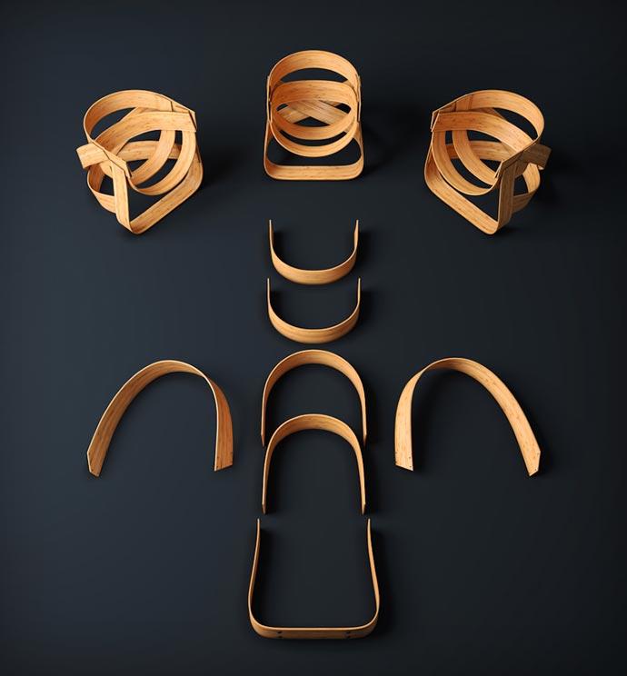 Woven Bamboo Chair pieces