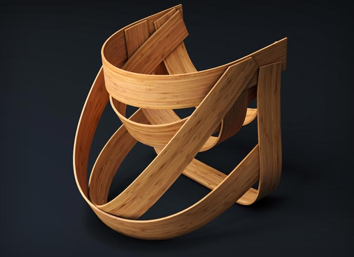 Woven Bamboo Chair 2