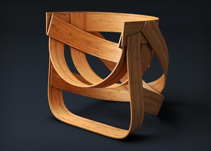 Woven Bamboo Chair 7