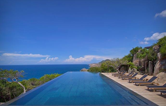 Pool at Amanoi resort in Vietnam