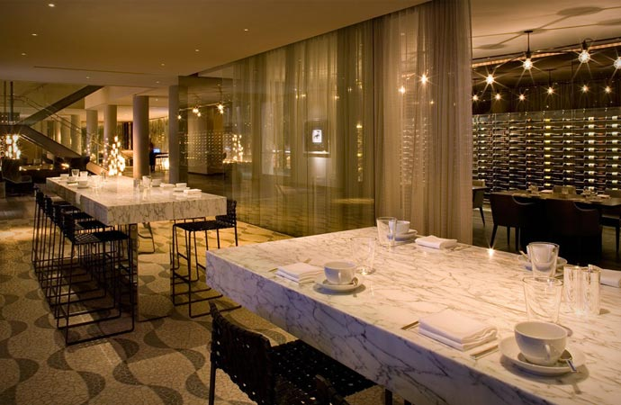 Restaurant and bar at Andaz West Hollywood in Los Angeles