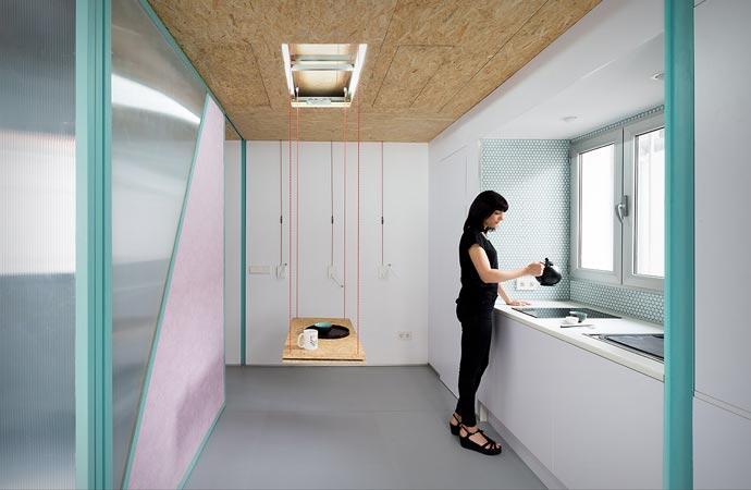 Kitchen in Didomestic Attic Apartment