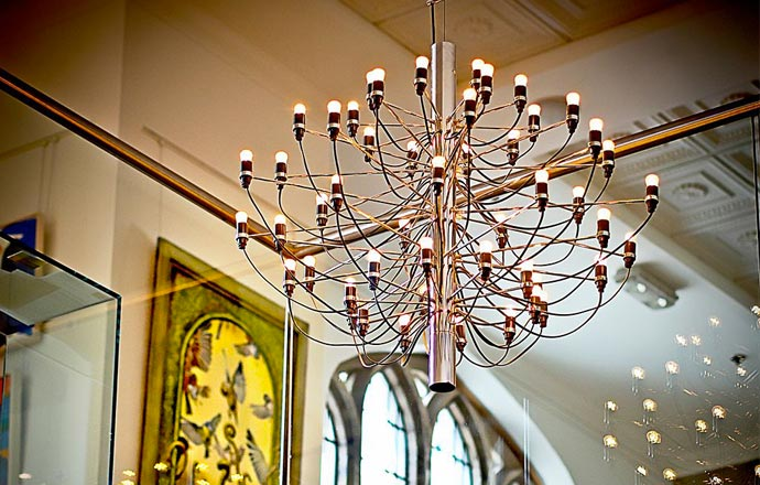 Chandelier at Glasshouse Hotel in Edinburgh