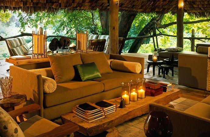 Lounge area at Lake Manyara Tree Lodge