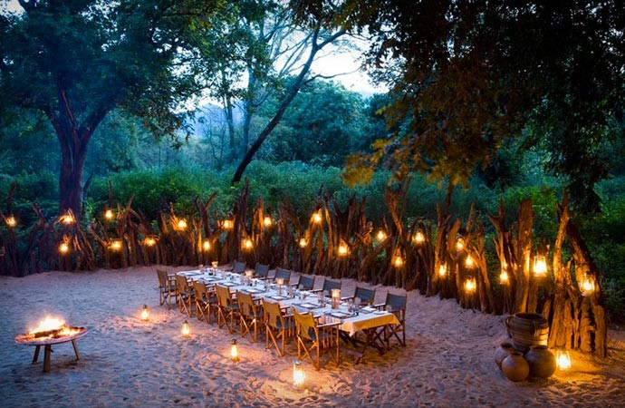Outdoor dining at Lake Manyara Tree Lodge