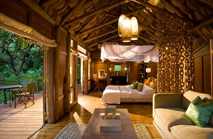 Bedroom at Lake Manyara Tree Lodge