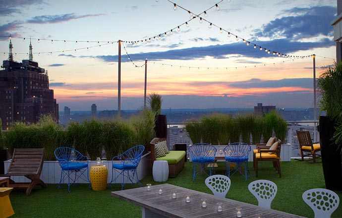 Rooftop bar at Mondrian Soho in New York