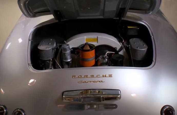Engine of a Porsche 356 Outlaw