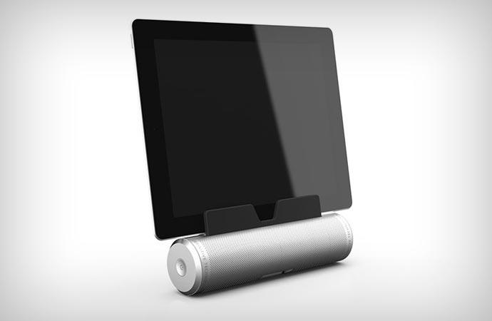 Sound Cylinder Portable Bluetooth Speaker for tablets and smartphones