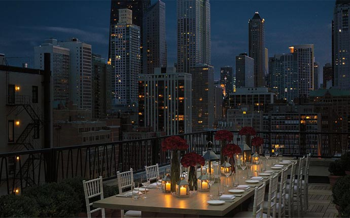 Public Chicago rooftop