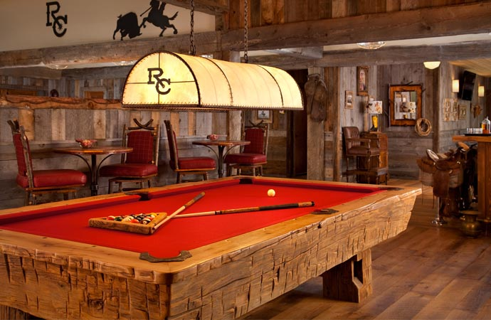 Pool table at Ranch at Rock Creek Montana