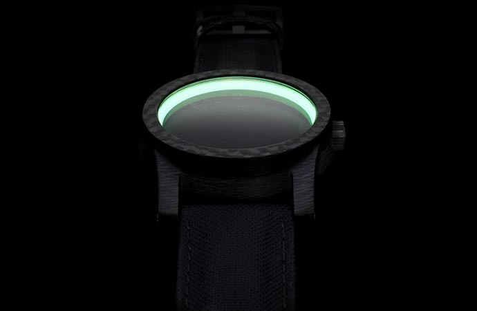 Schofield Black Lamp Carbon Watch