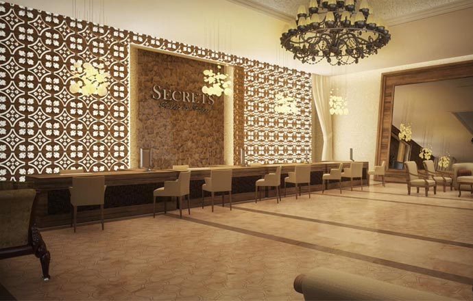 Lobby at Secrets Puerto Los Cabos