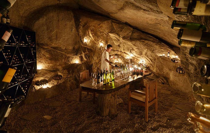 Six Senses Ninh Van Bay wine room
