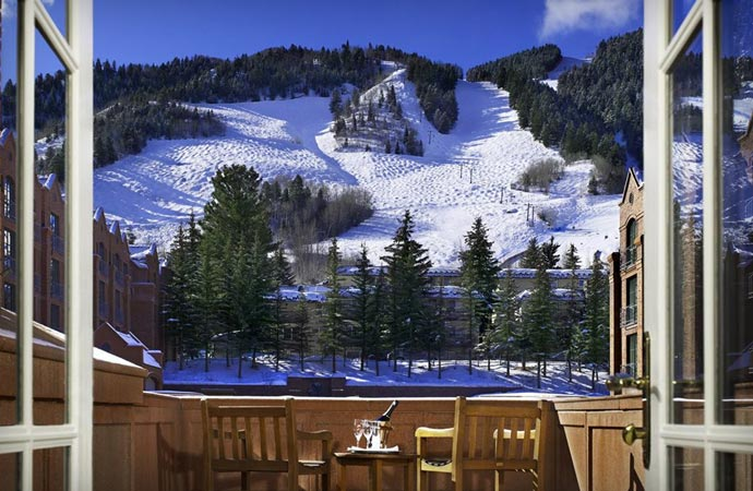 Skiing at the St Regis Aspen Resort